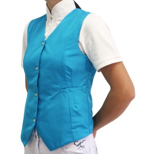 Mel & Mandy Jayne Ladies Vests - Aqua