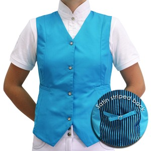 Mel & Mandy Billie Childs Vests - Aqua