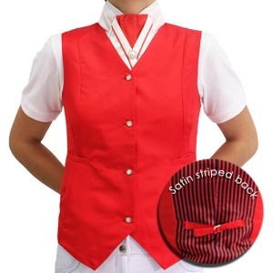Mel & Mandy Billie Childs Vests - Red