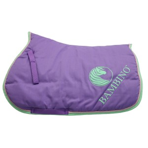 Bambino Puff Saddle Pad Purple w/Lime