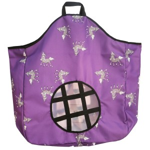 Bambino Hay Bag Feeder Purple Print