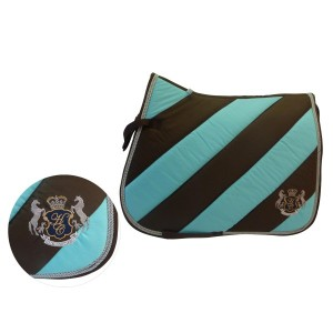 Huntington Club GP Saddle Pad - Brown/Aqua