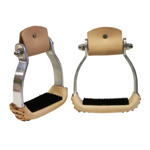 Fort Worth Brown Aluminium Oxbows with Leather Covers