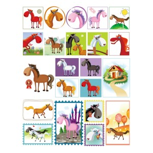 Barnyard Horse Stickers Pack of 5 Sheets