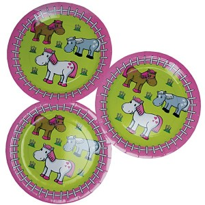 Horse Party Plates Pack/8