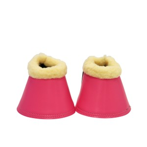 Smooth Bell Boots w/Fleece & Velcro - Pink