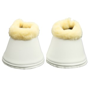 Smooth Bell Boots w/Fleece w/Velcro Large/White