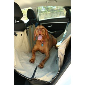 Happy Hound Hammock Back Car Seat Protector Beige