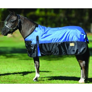 Piccolo Mini Turnout Rug - Blue/Black or Purple/Black