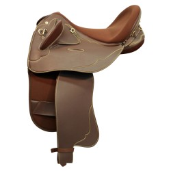 Horsemaster Swinging Fender Saddle - Brown Synthetic