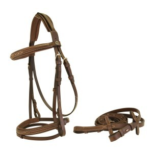 Sterling Snaffle Bridle w/ Fancy Stitching - Brown