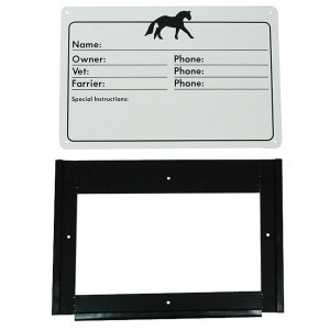 Stable Door Information Plate w/Holder