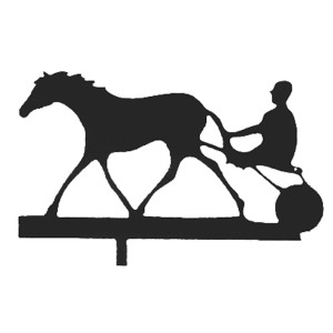 Harness Racer Weather Vane