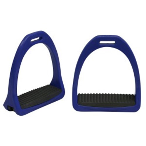 "Showmaster Nylon Stirrups Adults 5"" Navy w/Grey"