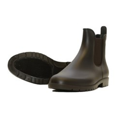 Steeds PVC Paddock Boots Brown Size 39