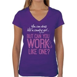 Huntington Vee Neck T-Shirt - Can You Work