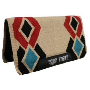 "FortWorth Ride-Lite Saddle Pad Diamond Pattern Tan 30""x34"""