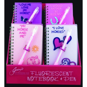 Fluorescent Notebook & Pen Set