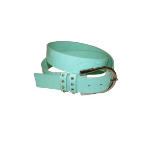 Giddyup Patent Embossed Belt - Ladies